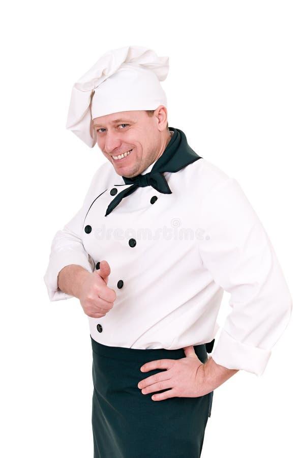 Cozinheiro chefe no uniforme fotografia de stock royalty free