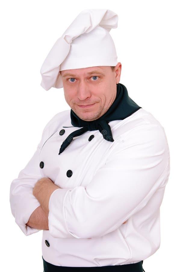 Cozinheiro chefe no uniforme foto de stock