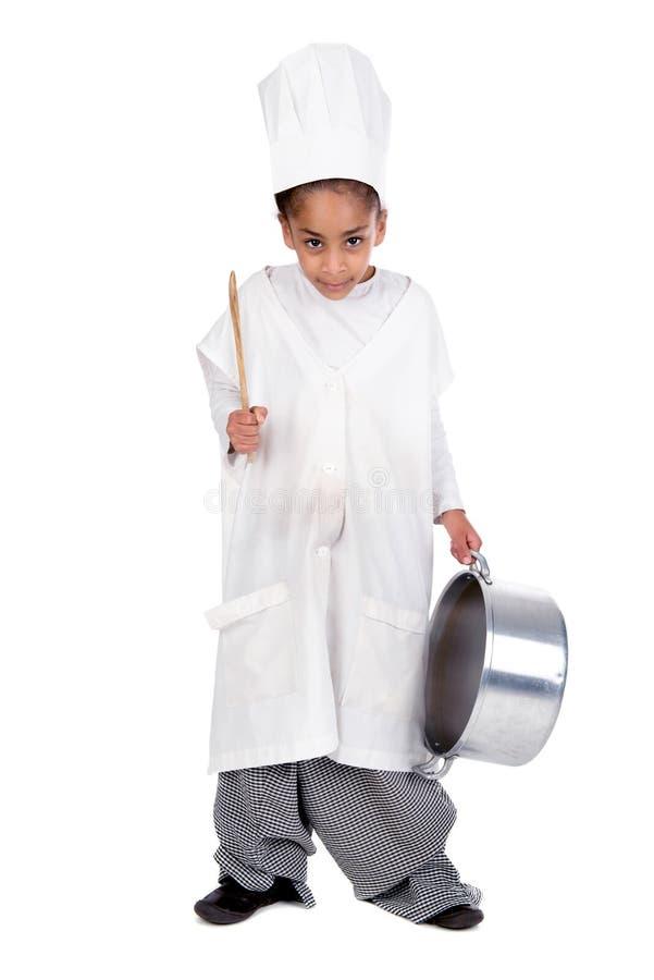 Cozinheiro chefe novo foto de stock royalty free