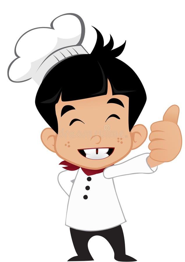 Cozinheiro chefe novo pequeno ilustração royalty free
