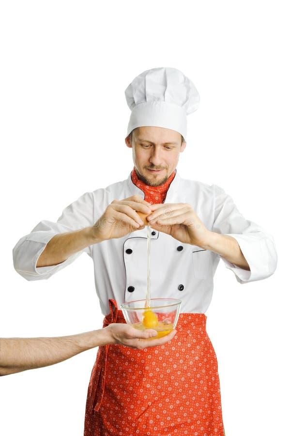 Cozinheiro chefe ocupado imagens de stock royalty free