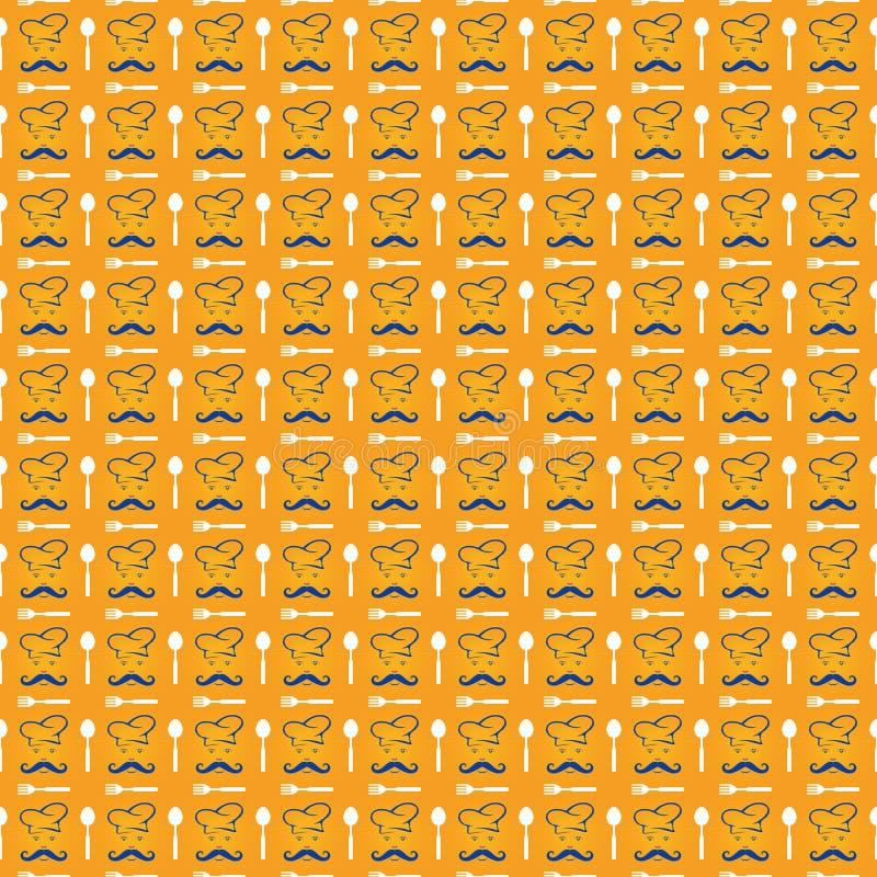 Cozinheiro chefe Pattern Background imagem de stock