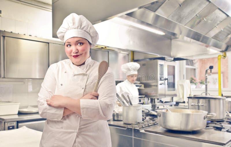 Cozinheiro chefe principal fotografia de stock