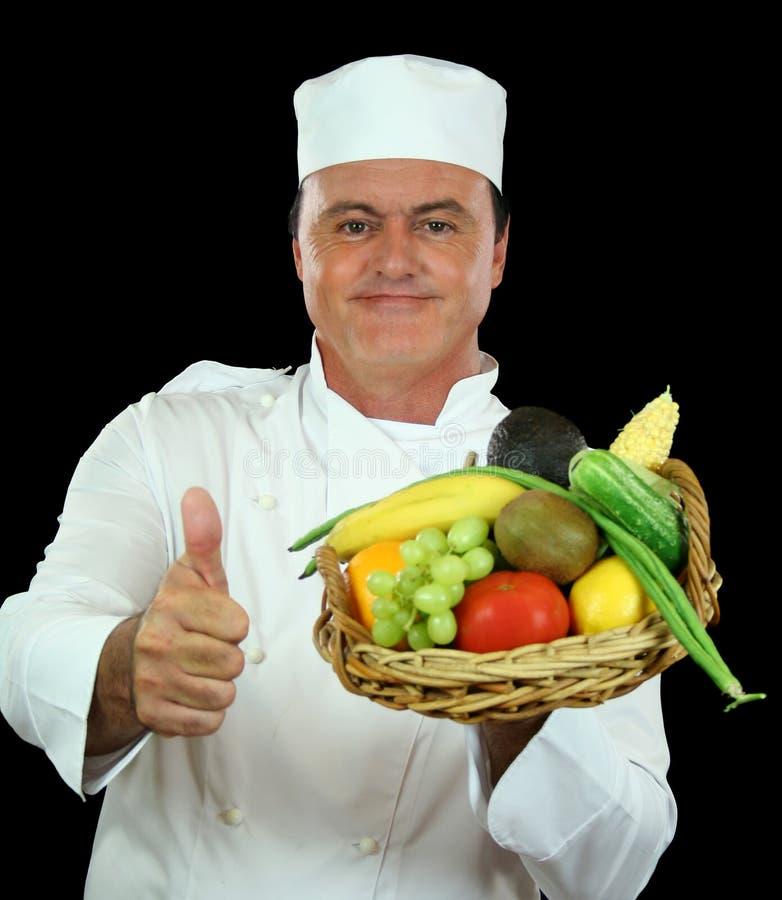 Cozinheiro chefe saudável fotografia de stock royalty free