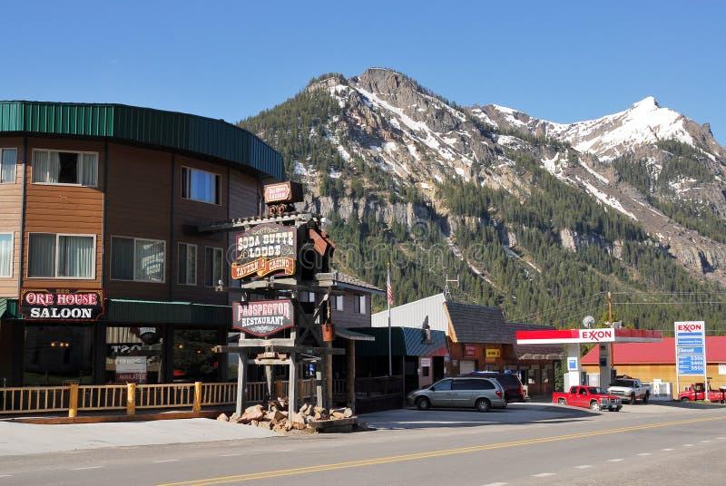 Cozinheiro City, parque nacional de Yellowstone, Montana fotografia de stock royalty free