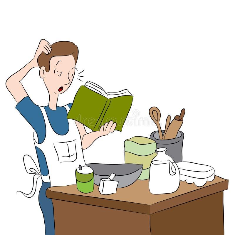 Cozinheiro confuso ilustração royalty free