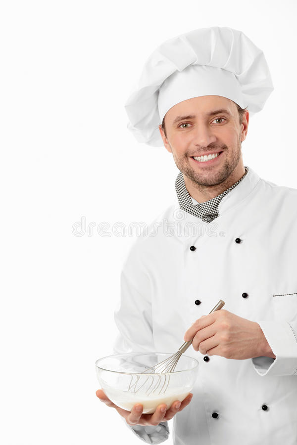 Cozinheiro de sorriso fotos de stock royalty free