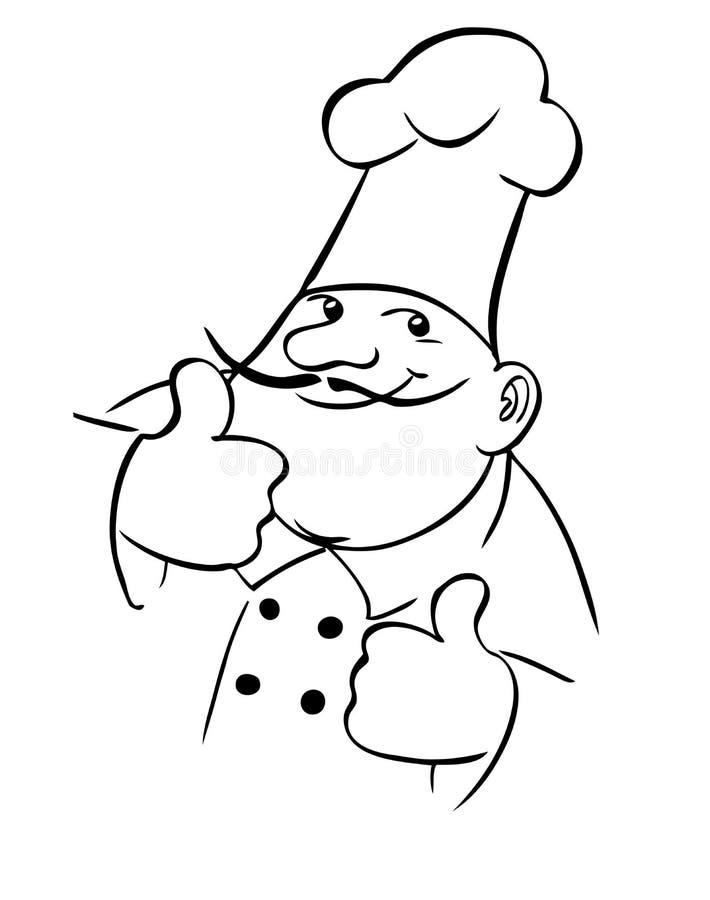 Cozinheiro do cozinheiro chefe ilustração royalty free