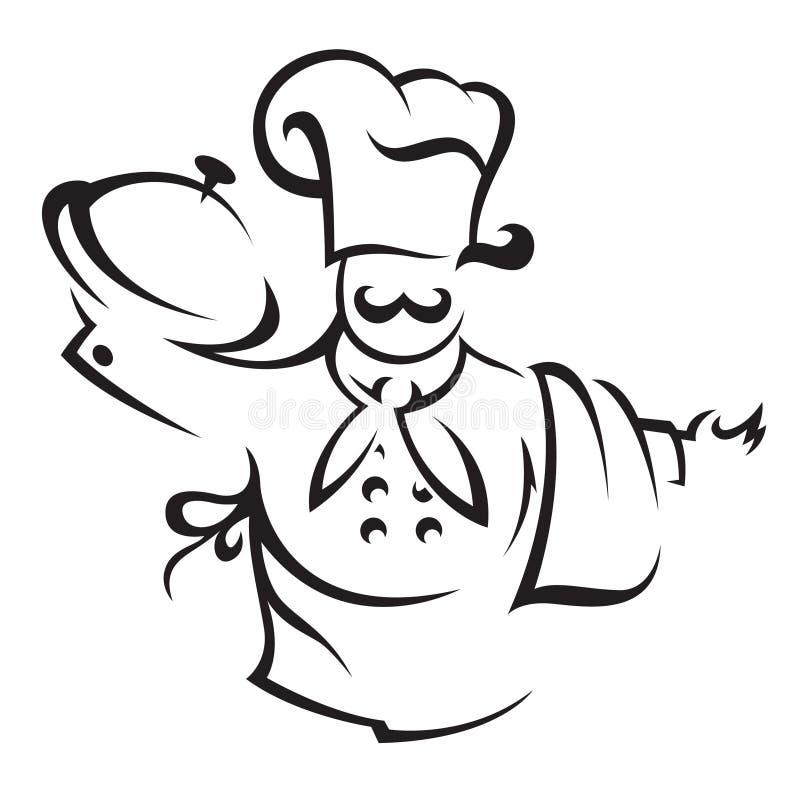 Cozinheiro do cozinheiro chefe ilustração do vetor