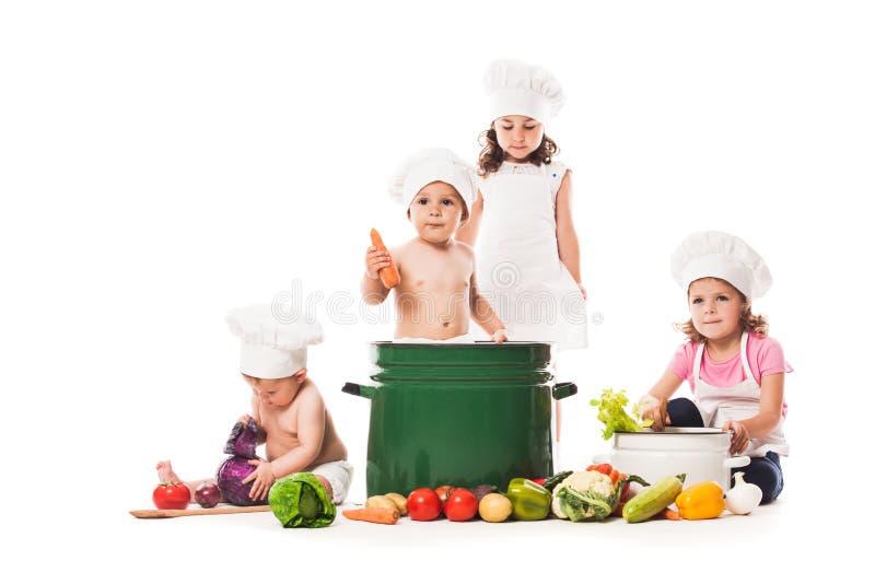 Cozinheiro do jogo das crianças imagem de stock royalty free