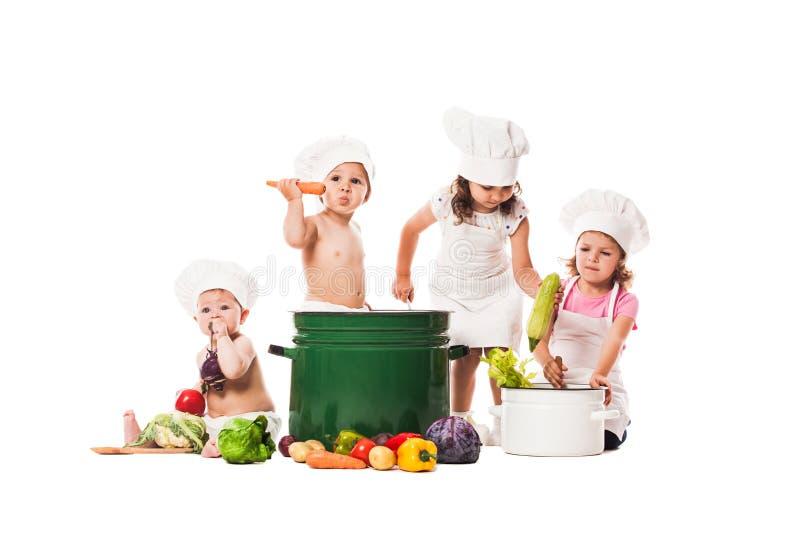 Cozinheiro do jogo das crianças foto de stock