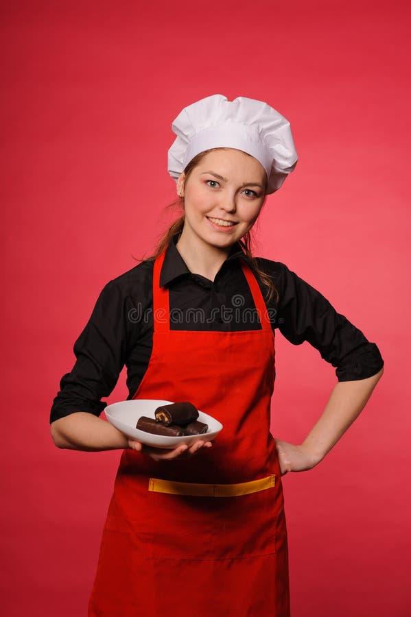 Cozinheiro dos jovens da beleza fotografia de stock