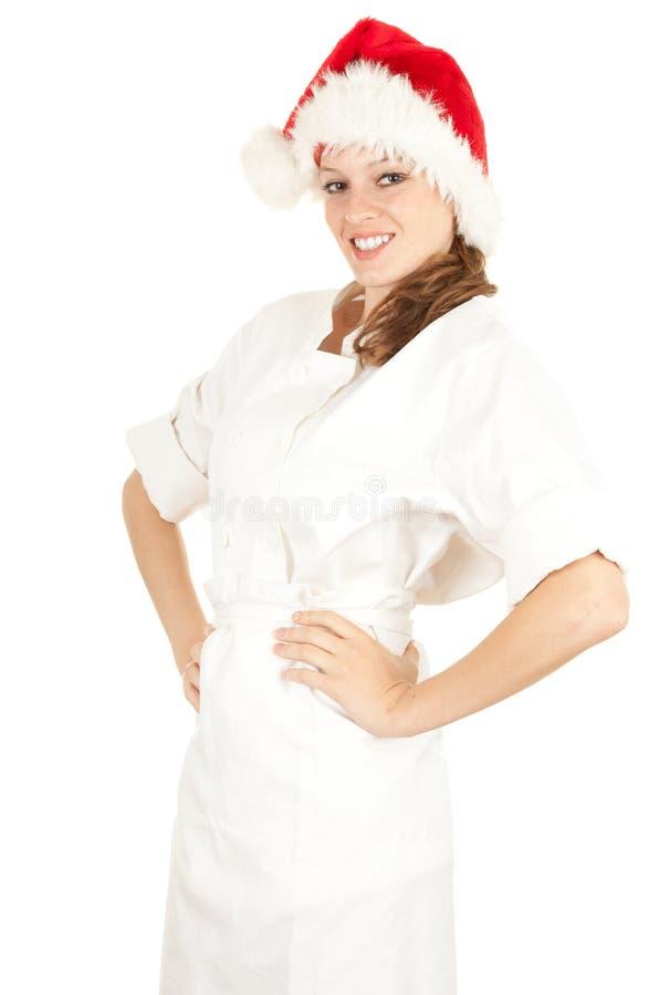 Cozinheiro fêmea de Santa imagens de stock