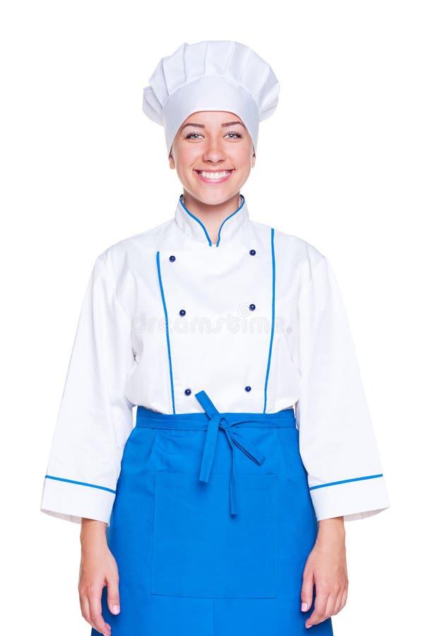 Cozinheiro Fêmea Do Smiley Foto de Stock Royalty Free