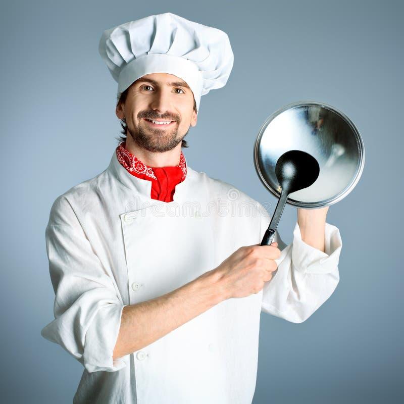 Cozinheiro feliz foto de stock royalty free