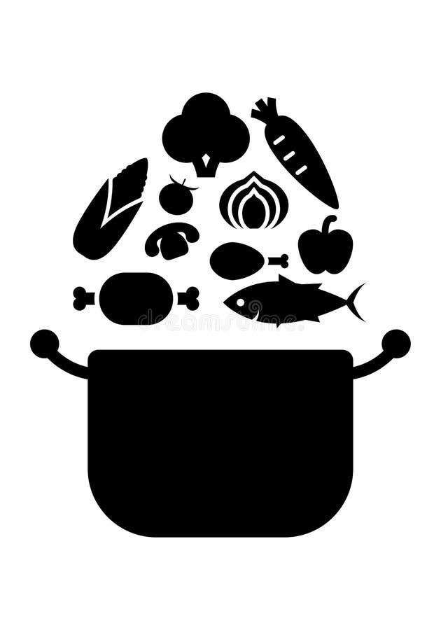 Cozinheiro gráfico, vetor ilustração stock