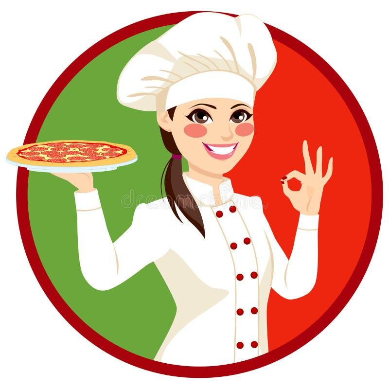 Cozinheiro italiano fêmea ilustração royalty free