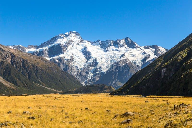 Cozinheiro National Park da montagem de Aoraki, Nova Zelândia imagens de stock