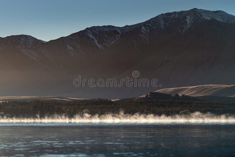 Cozinheiro New Zealand da montagem de Tekapo Aoraki do lago fotografia de stock royalty free