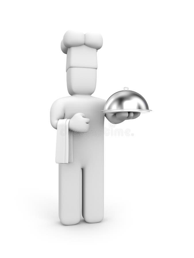 Cozinheiro principal ilustração royalty free