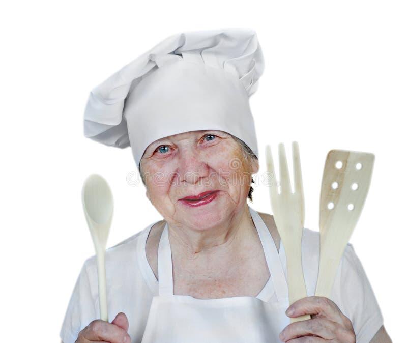 Download Cozinheiro Sênior Da Mulher Foto de Stock - Imagem de fresco, madeira: 16864926