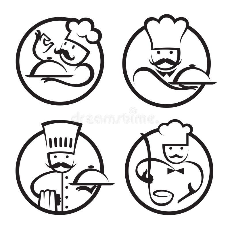 Cozinheiros chefe ilustração do vetor
