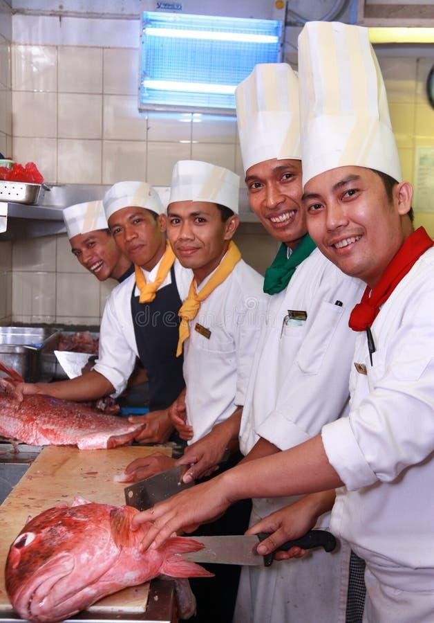 Cozinheiros chefe imagens de stock royalty free