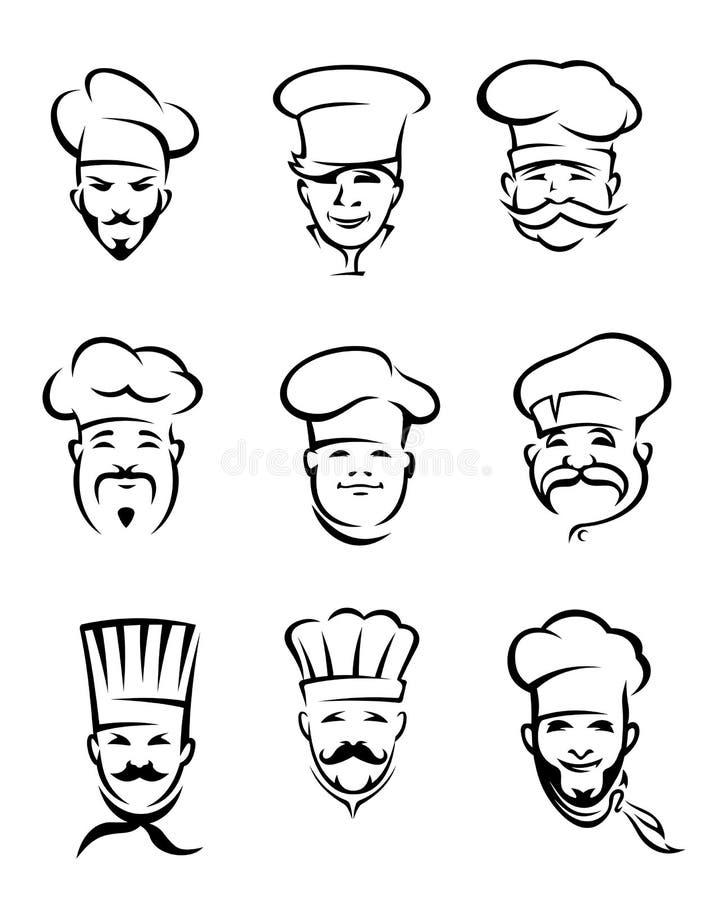 Cozinheiros chefe do restaurante ilustração royalty free