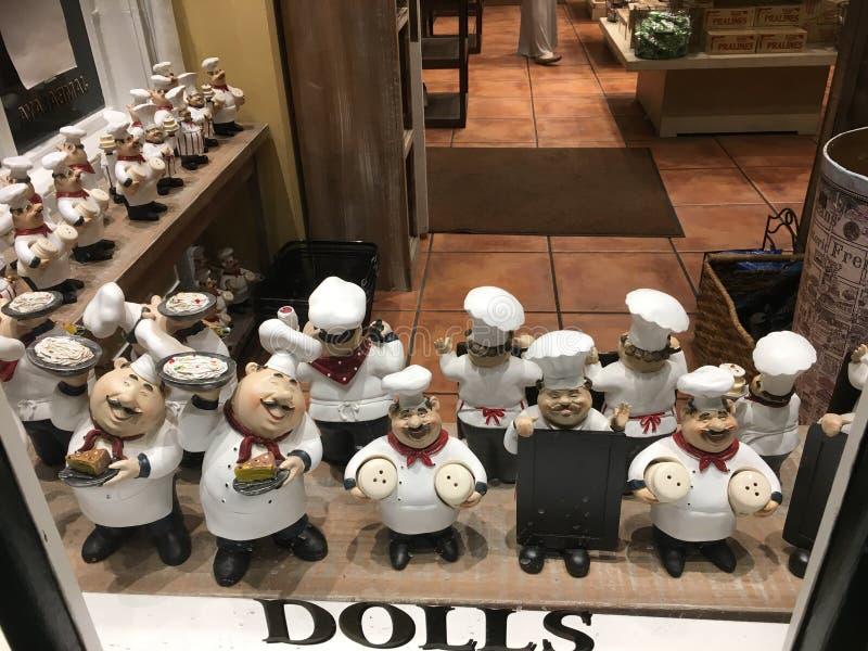Cozinheiros chefe na exposição imagens de stock royalty free