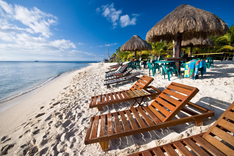 cozumel Мексика пляжа стоковые фотографии rf