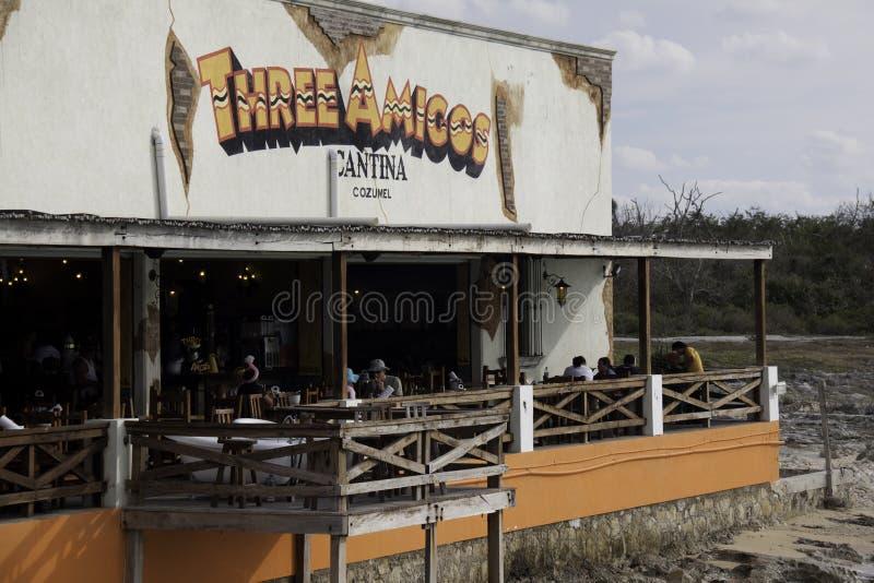 Cozumel Cantina de México - beira-rio de três amigo fotos de stock