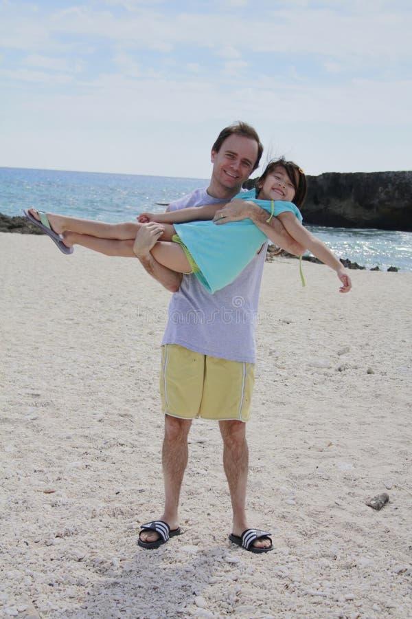Cozumel com paizinho e filha foto de stock royalty free