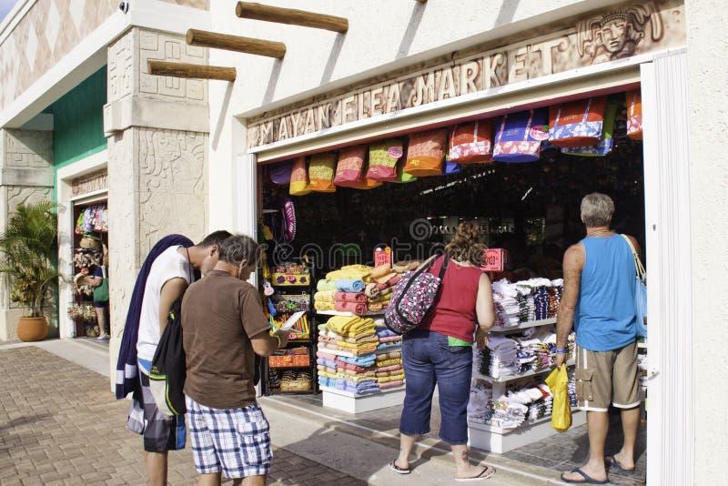 Cozumel México - mercado de las compras fotos de archivo