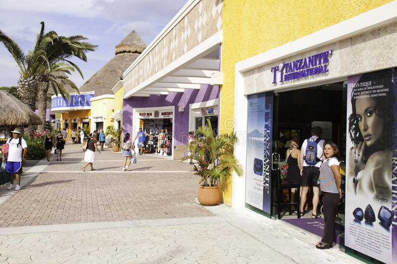 cozumel mexico cruise port jewelry store editorial stock