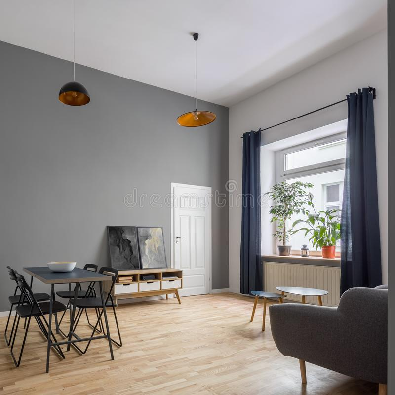 Cozy apartment with contemporary furniture royalty free stock photography
