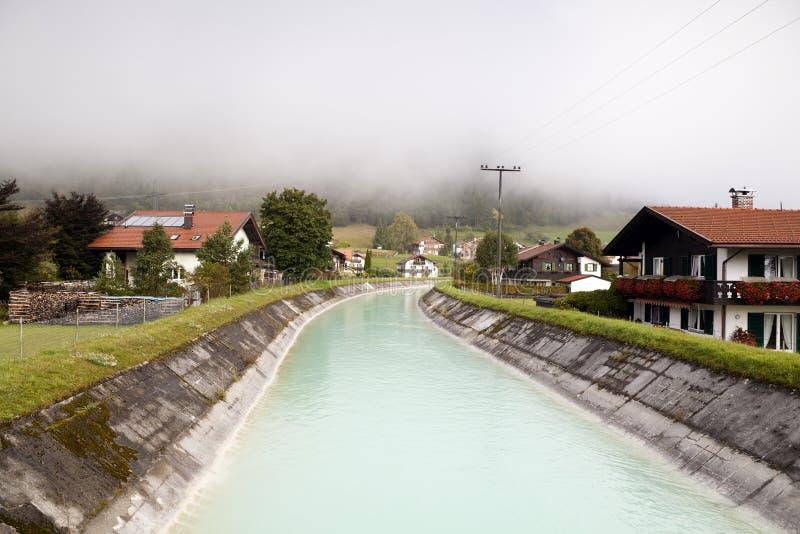 Cozy Bavarian town Wallgau royalty free stock images