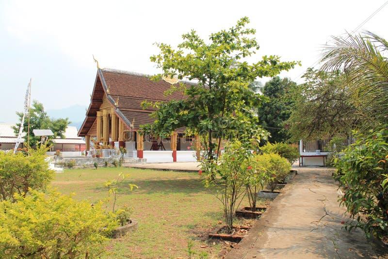 Cozy Buddhist monastery in Laos royalty free stock photo