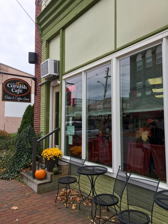 Cozy cafe in Oakland, MD royalty free stock image