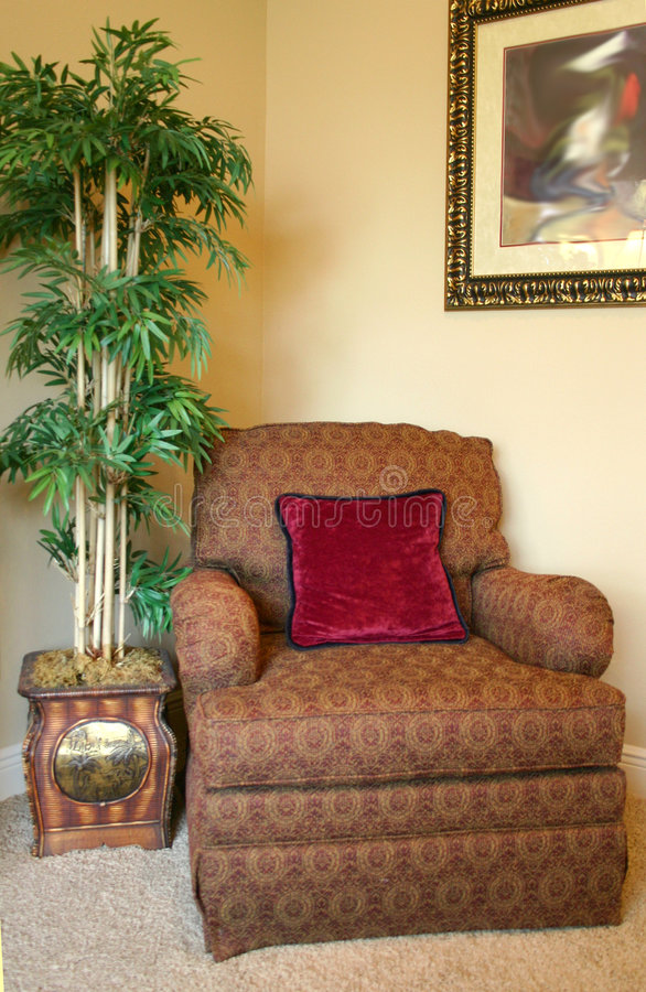 Download Cozy Corner stock photo. Image of pillow, upholstered, palm - 940990