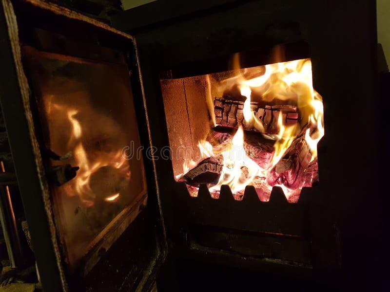 Cozy fireplace royalty-vrije stock afbeeldingen