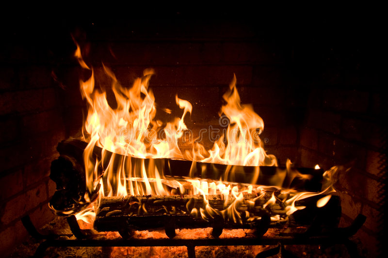 Cozy Fireplace royalty free stock images