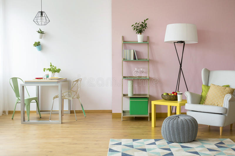 Cozy flat for two royalty free stock images