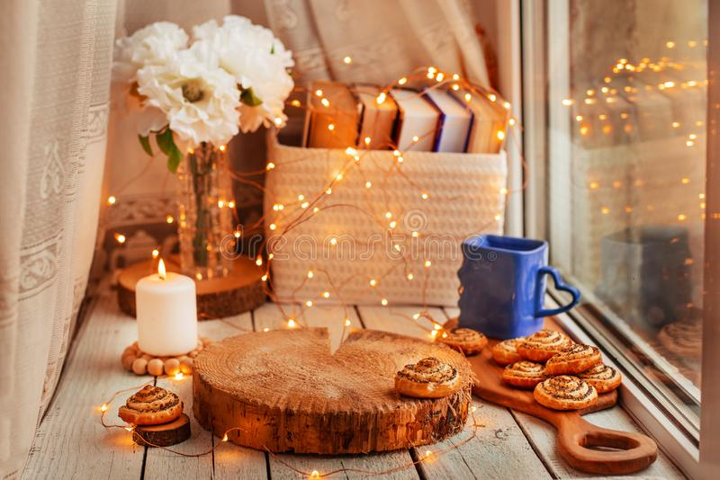 Cozy home background royalty free stock image