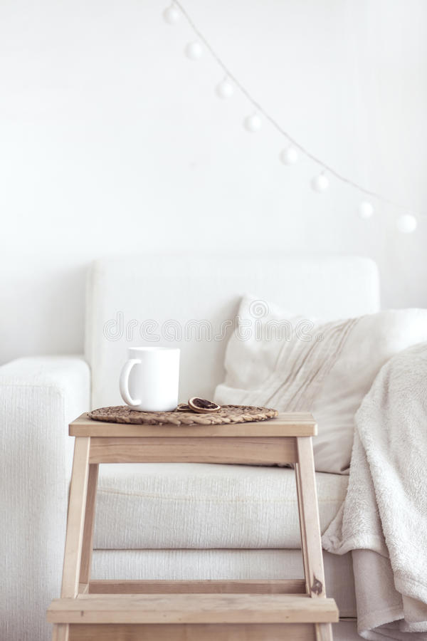 Cozy interior details royalty free stock photography