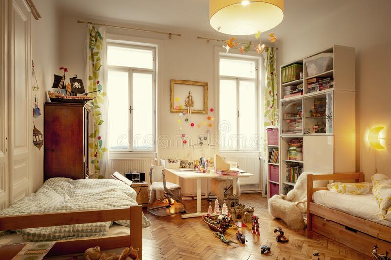 Cozy kids room stock images