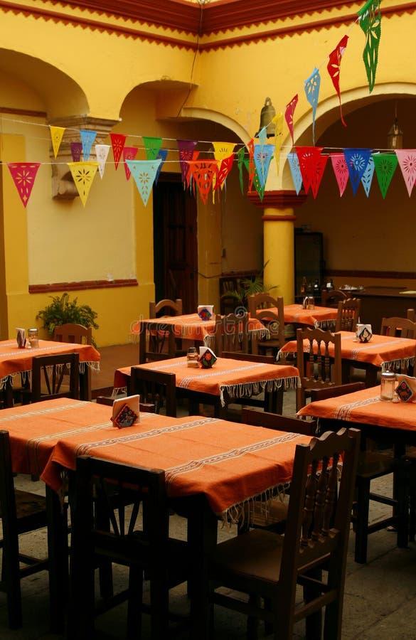 Cozy mexican restaurant. Oaxaca, Mexico royalty free stock photos