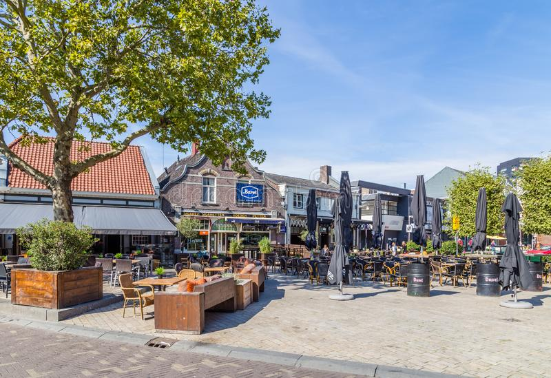 Cozy Plus Square in Tilburg, Nederland, stock foto's