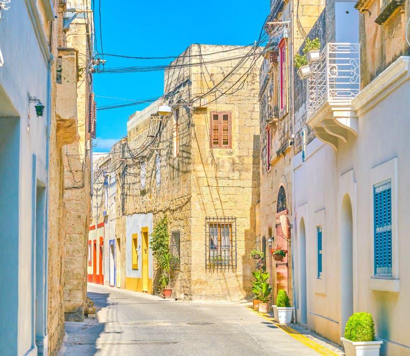 Historical residential buildings in Naxxar, Malta royalty free stock photo