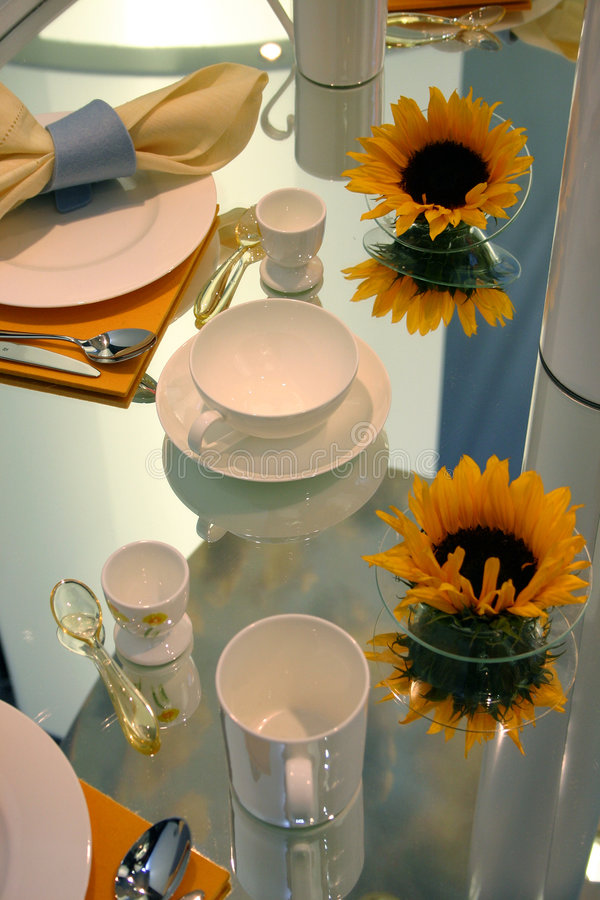 Download Cozy table lay stock image. Image of mirror, service, morning - 1975655
