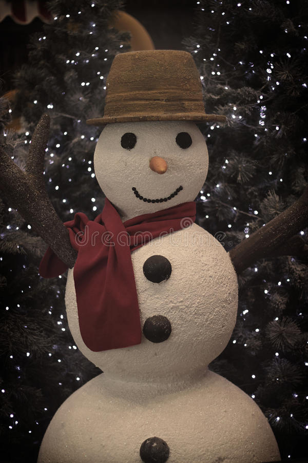 Cozy Vintage Snowman stock photography